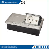 Dubbele het aluminium duikt de Doos van de Contactdoos van de Vloer met Duitse Contactdoos op
