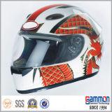 点の輝いた太字のモーターバイクまたはオートバイのヘルメット(FL119)
