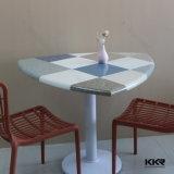 Tabella pranzante di marmo di pietra di superficie solida del quadrato della mobilia del ristorante (T161205)