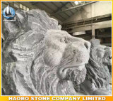 Scultura dei leoni del granito a grandezza naturale
