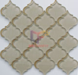 Color beige Flower Pattern Crystal Glass Mosaic par Wter Jet (CFW58)