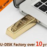 Kundenspezifisches Firmenzeichen, das goldenes Stab USB-Blitz-Laufwerk (YT-1211L, schiebt)