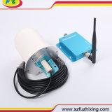 Aumentador de presión de Amplificador de la señal de Repetidor del teléfono celular de Phonetone 62dB 3G 2100MHz con la antena de interior del azote y la antena tubular omnidireccional al aire libre