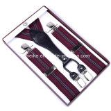 Il jacquard superiore barra le bretelle di cuoio della clip per gli uomini (BD1032)