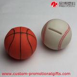 創造的なフットボールのバスケットボールの地球のプラスチック硬貨のセービングボックス