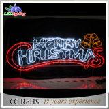 Qualité Santa décorative avec la lumière de lettre de Joyeux Noël