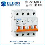 MCB van uitstekende kwaliteit 4p Mini Circuit Breaker (PLB6K Series)