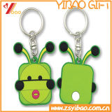 O PVC macio de borracha relativo à promoção o mais barato Keychain (YB-LY-K-03)