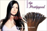 Eu derrubo a vara que o cabelo humano personaliza a extensão cheia do cabelo da fusão de Remy da cor