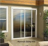 Раздвижная дверь двойной стеклянной панели алюминиевая (сползая дверь патио)