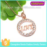 Fashion Women Assessories Jóias de liga Silver Crystal Custom Cat Necklace