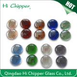 Lanscapingのガラス砂によって押しつぶされるえんじ色ガラスは装飾的なガラスを欠く