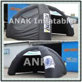 Tenda gonfiabile nera della cupola dei piedini per le attività esterne
