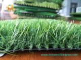 Prato inglese artificiale verde chiaro dell'erba con la certificazione del Ce