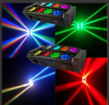 移動ヘッド効果ライト8部分の10W LEDのくものビーム