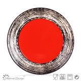 piatto di pranzo di ceramica di verniciatura variopinto di 26.6cm
