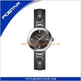 簡単なバージョンの本革が付いている優秀なステンレス鋼の贅沢な腕時計