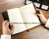 Soft Leather Cover Diary Business Writing Notepad / Journal