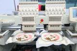 Machine de broderie de 2 têtes pour des vêtements de Flat+Cap+Finished