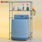 Prateleira ajustável do metal do cromo de DIY para a cremalheira do armazenamento da máquina de lavar