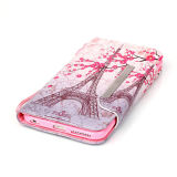 Pu Leather Case Wallet Filp Cover voor iPhone6 6s Colored Drawing