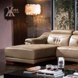 Il sofà di cuoio del salone ha impostato con il poggiacapo registrabile (398)
