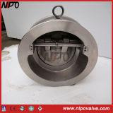 Tipo tipo da bolacha do balanço que inclina a válvula de verificação do disco
