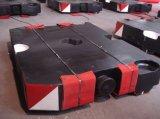 砂型で作るカスタマイズされた鉄の鋳造10トンクレーンカウンターウェイト
