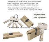 Chave de Kaba da boa qualidade da alta segurança, cilindro do fechamento de porta (SN do CYL 06-01)