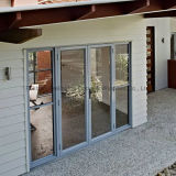Portes en aluminium en verre Tempered d'isolation thermique (FT-D80)
