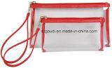 2 partes Waterproof o saco cosmético do banho desobstruído do arti'culo de tocador do PVC Vivyl para relativo à promoção