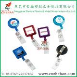 Carretéis 28mm plásticos retráteis personalizados do emblema dos cuidados