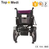 Cadeiras de rodas elétricas básicas econômicas de Topmedi com espaldar Foldable