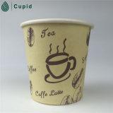 Copo de papel padrão de produto comestível de Europa do café de 4 onças