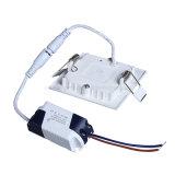 LED 위원회 빛 LED 운전사 주거 점화를 가진 Ultrathin Suqare 천장 램프 3W 270lm 2700k-6500k AC85-265V