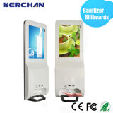 19 polegadas Android LCD Advertizing Display com Hand Sanitizer Billboard