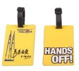 Etiqueta promocional plástica del equipaje del PVC 3D de la alta calidad (LT-102)