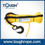 Truck Hydraulic Winch Dyneema Synthetic 4X4 Winch Rope with Hook Thimble Sleeve Packed as Full Set