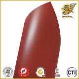 Folha transparente vermelha rígida do PVC no rolo
