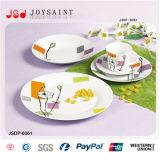 Ensemble de dîner carré à la vente chaude (JSD116-S010)
