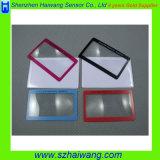 Campione libero personalizzato del Magnifier Hw-808 della casella del Magnifier della carta di credito di marchio