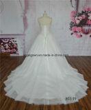 重いビーズのテュルの王女ウェディングドレス