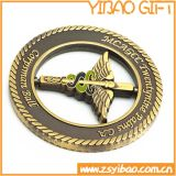 Monnaies métalliques militaires de haute qualité avec Swirl Edge (YB-c-016)