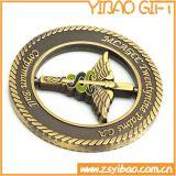 Монетки металла высокого качества воинские с краем свирли (YB-c-016)