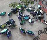 Annata Sapphire ab Navettes 8X4mm Glass Gems