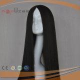 Peluca larga sin procesar del pelo del color natural completo del cordón para las mujeres