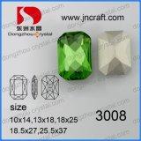 보석 돌 에메랄드 색 팔각형 방석 커트 투명 감람석 입방 결정