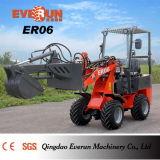 Mit Palletengabel de Radlader do carregador da roda de Maschine da exploração agrícola da agricultura de Certifiziert do Ce de Everun Er06 mini