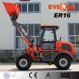 CE Mini Wheel Loader 4WD di Everun Brand 1.6 Ton con Air Brake