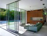 Алюминиевые стеклянные раздвижные двери с двойным стеклом